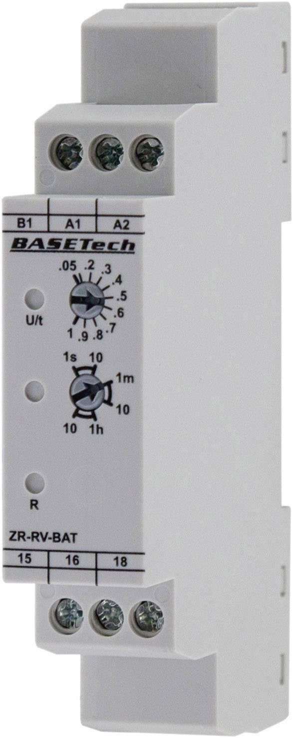 Monofunkčné časové relé Basetech ZR-RV-BAT, čas.rozsah: 0.05 s - 10 h, 1 prepínací
