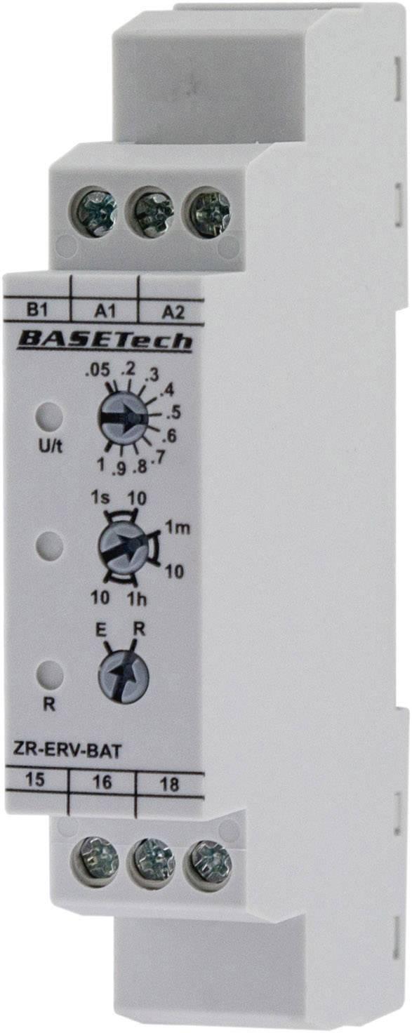 Multifunkčné časové relé Basetech ZR-ERV-BAT, čas.rozsah: 0.05 s - 10 h, 1 prepínací