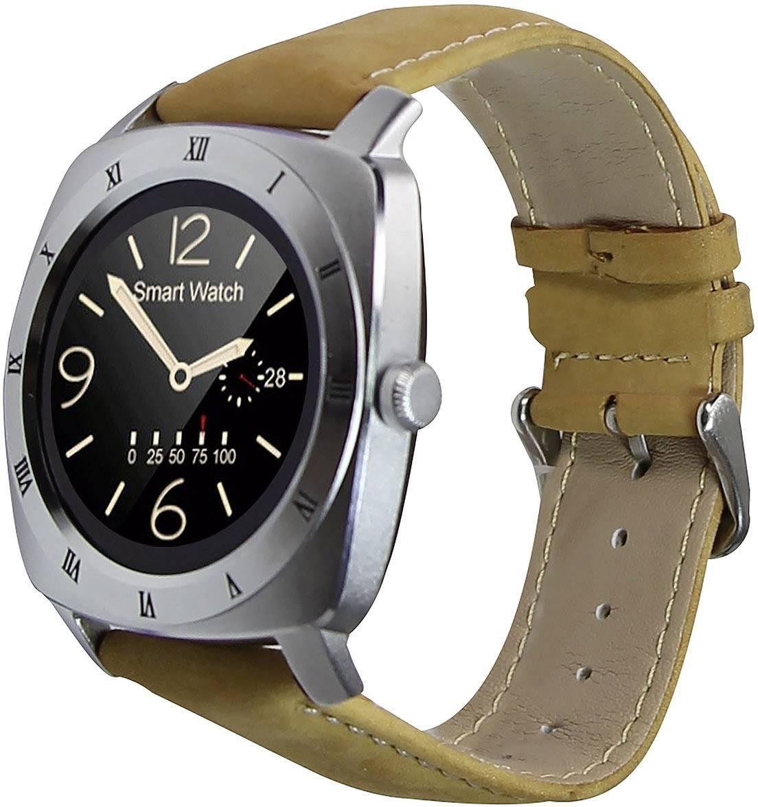 Chytré hodinky Xlyne Nara XW Pro CL, stříbrná, hnědá