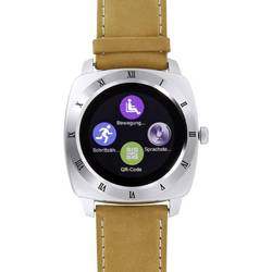 Chytré hodinky X-WATCH Nara XW Pro CL, stříbrná, hnědá