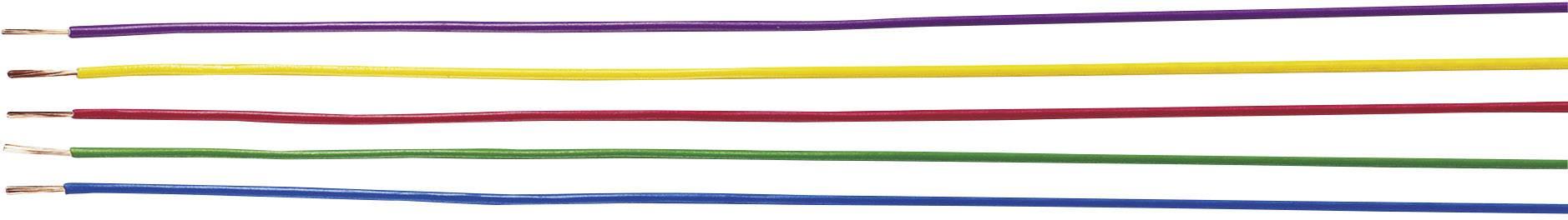 Opletenie / lanko Helukabel 29081 H05V-K, 1 x 0.50 mm², vonkajší Ø 2.50 mm, metrový tovar, čierna