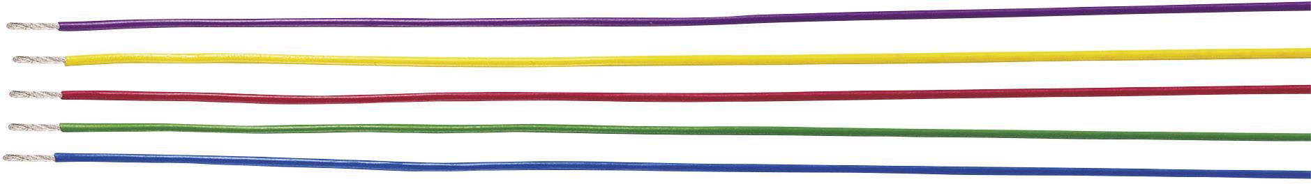 Opletenie / lanko Helukabel 26424 LiYv, 1 x 0.25 mm², vonkajší Ø 1.30 mm, metrový tovar, hnedá