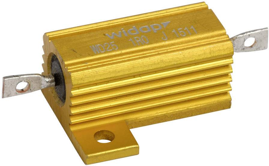 Drátový rezistor Widap 160021, hodnota odporu 18 Ohm, v pouzdře, 25 W, 1 ks