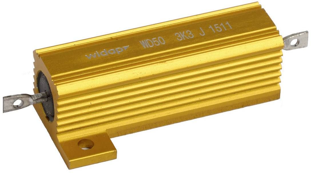 Drôtový rezistor Widap 160097, hodnota odporu 390 Ohm, 50 W, 1 ks