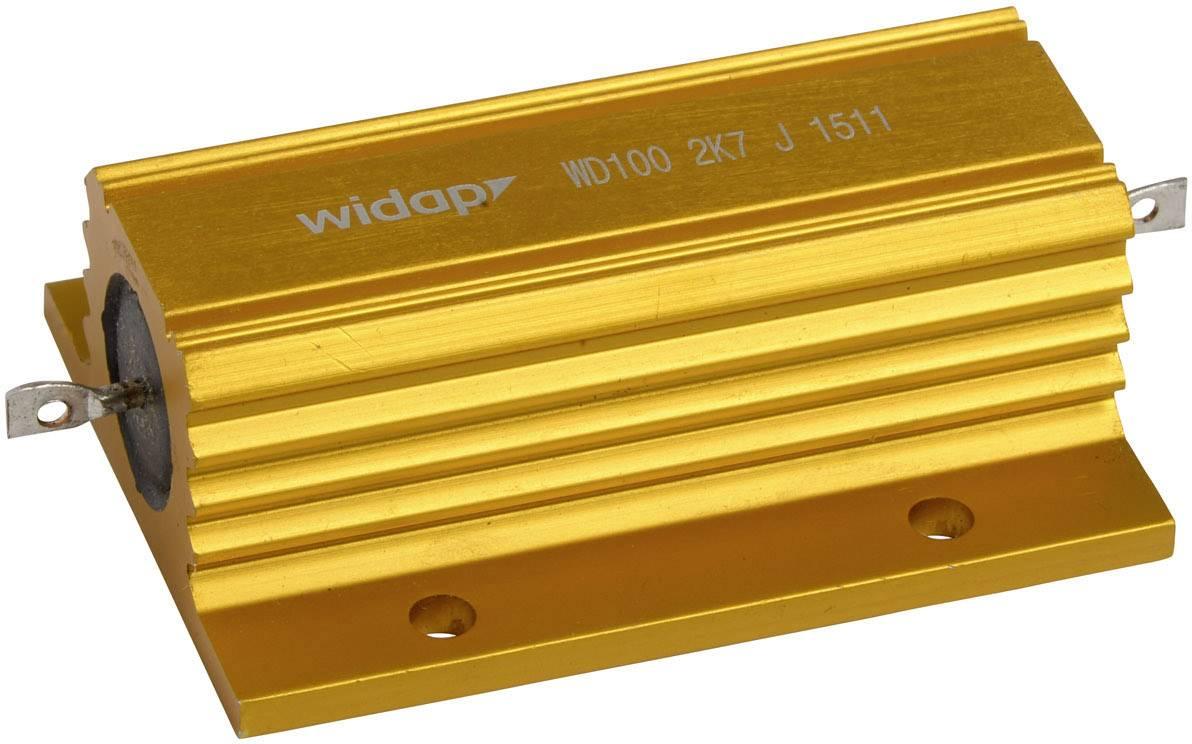 Drátový rezistor Widap 160123, hodnota odporu 4.7 Ohm, v pouzdře, 100 W, 1 ks