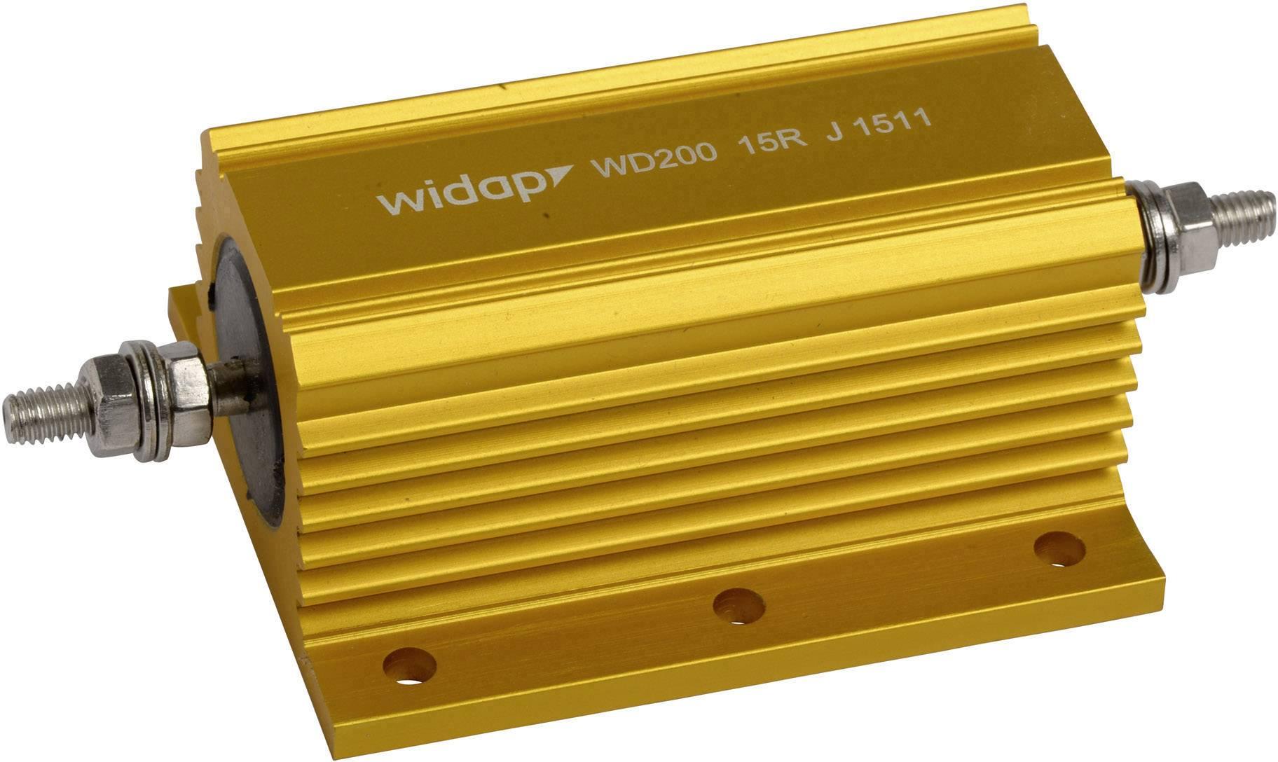 Drátový rezistor Widap 160142, hodnota odporu 0.10 Ohm, v pouzdře, 200 W, 1 ks