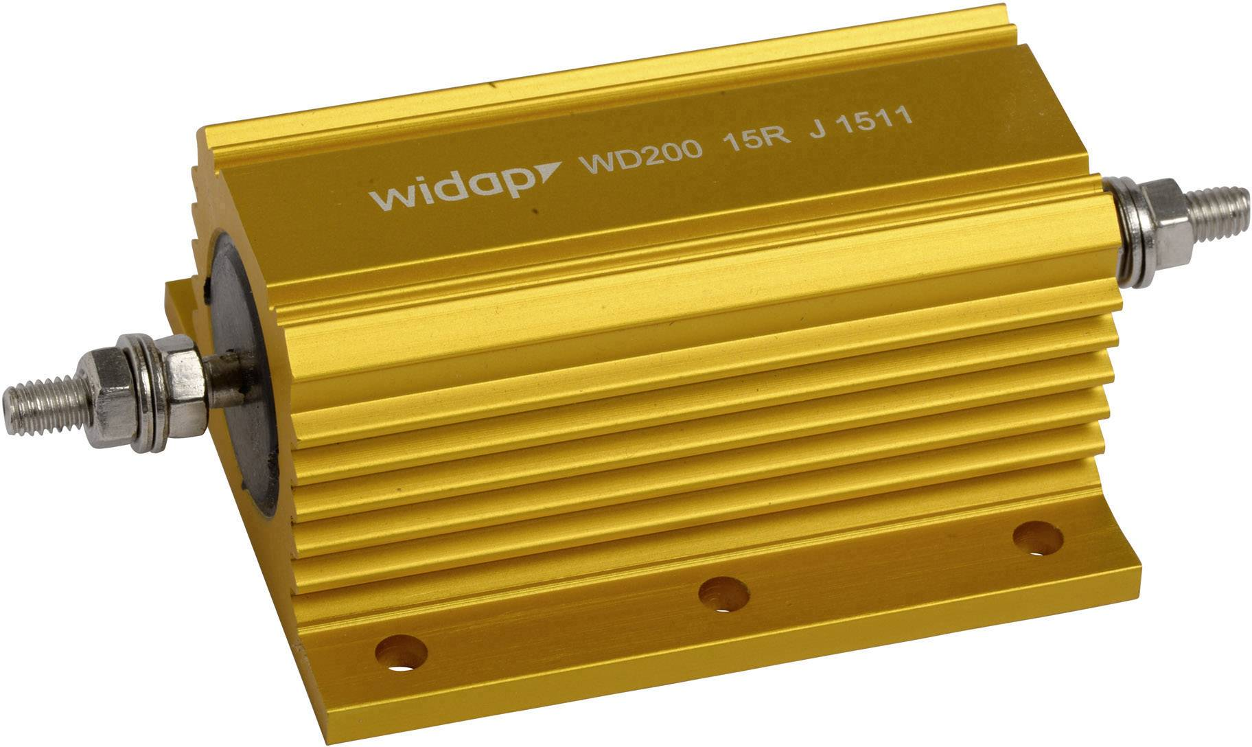 Drátový rezistor Widap 160174, hodnota odporu 15 Ohm, v pouzdře, 300 W, 1 ks