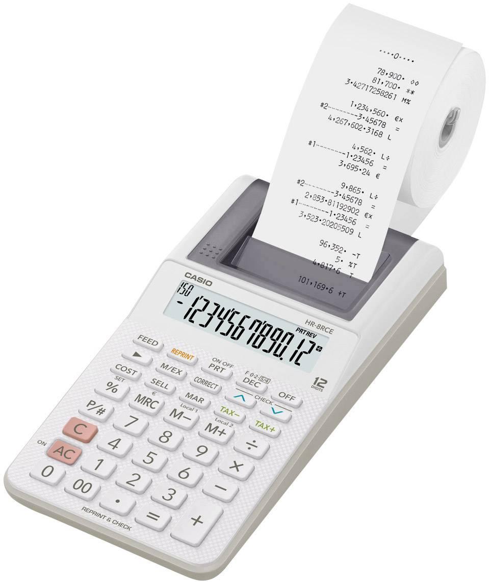 HR-8REC bílá Casio HR-8REC-WE bílá