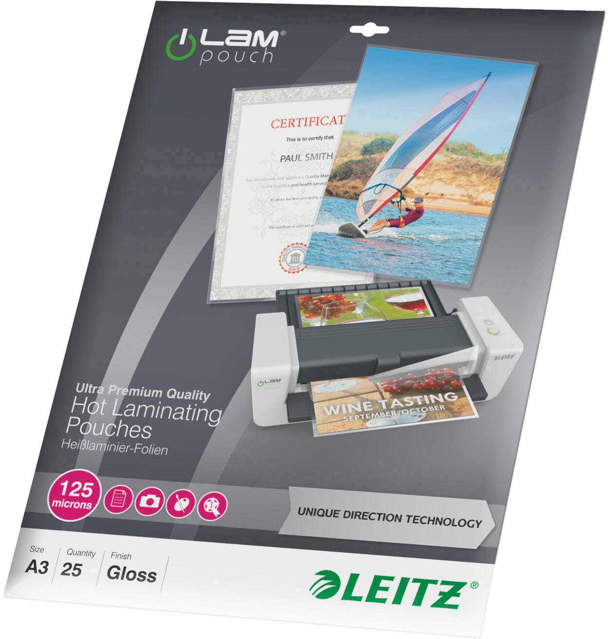 Laminovací folie Leitz A3 125 micron lesklý 25 ks