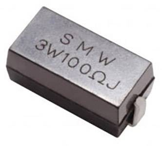 SMD drôtový rezistor TyOhm SMW 3W 10R F T/R, 10 Ohm, 3 W, 1 %, 1 ks