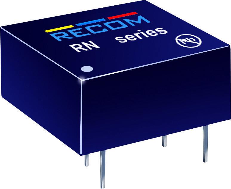DC/DC měnič Recom RN-1212S/P, vstup 12 V, výstup 12 V, 104 mA, 1,25 W