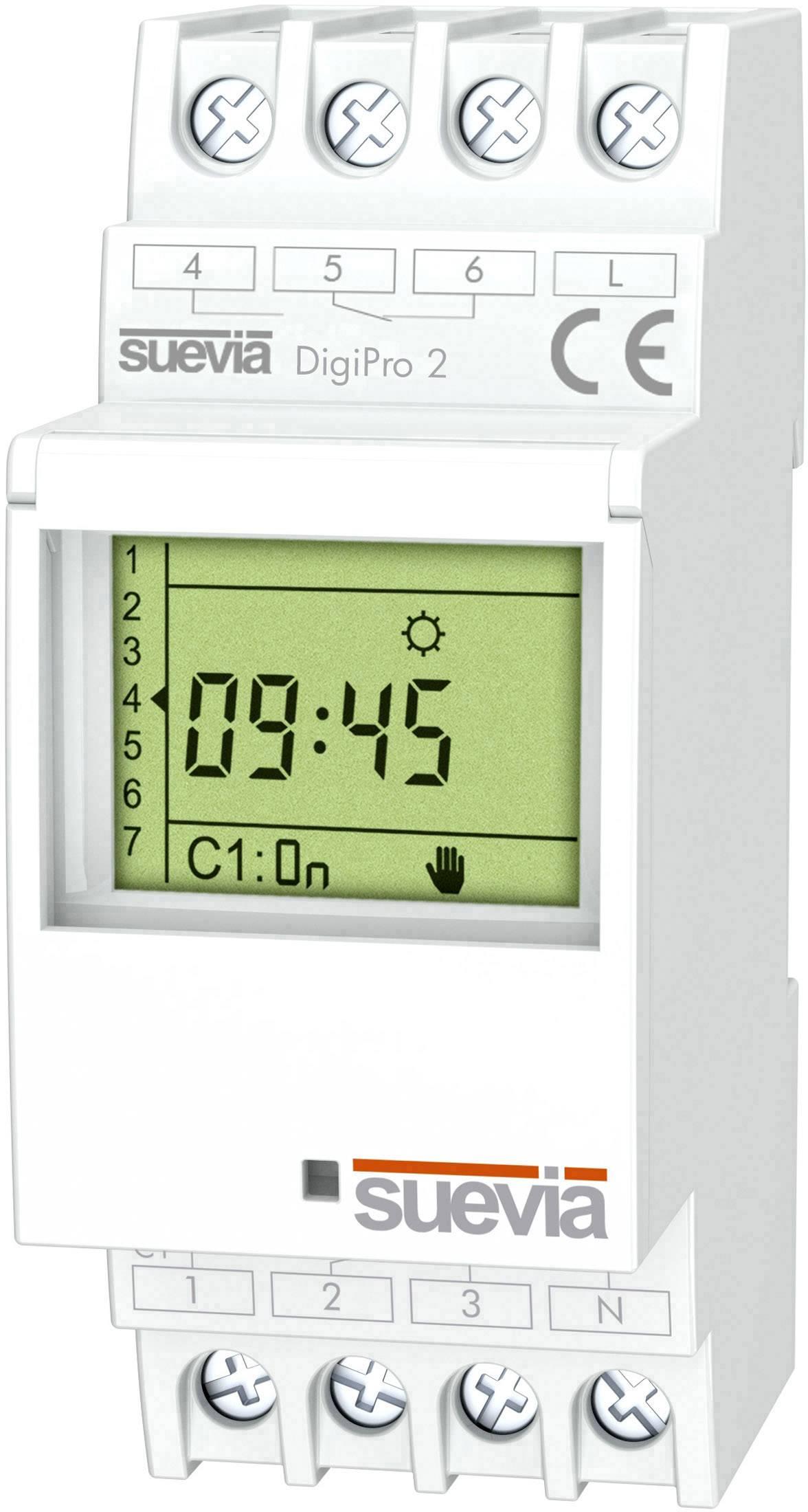 Časové relé - časovač Suevia DigiPro 2 SU171912, 1 ks