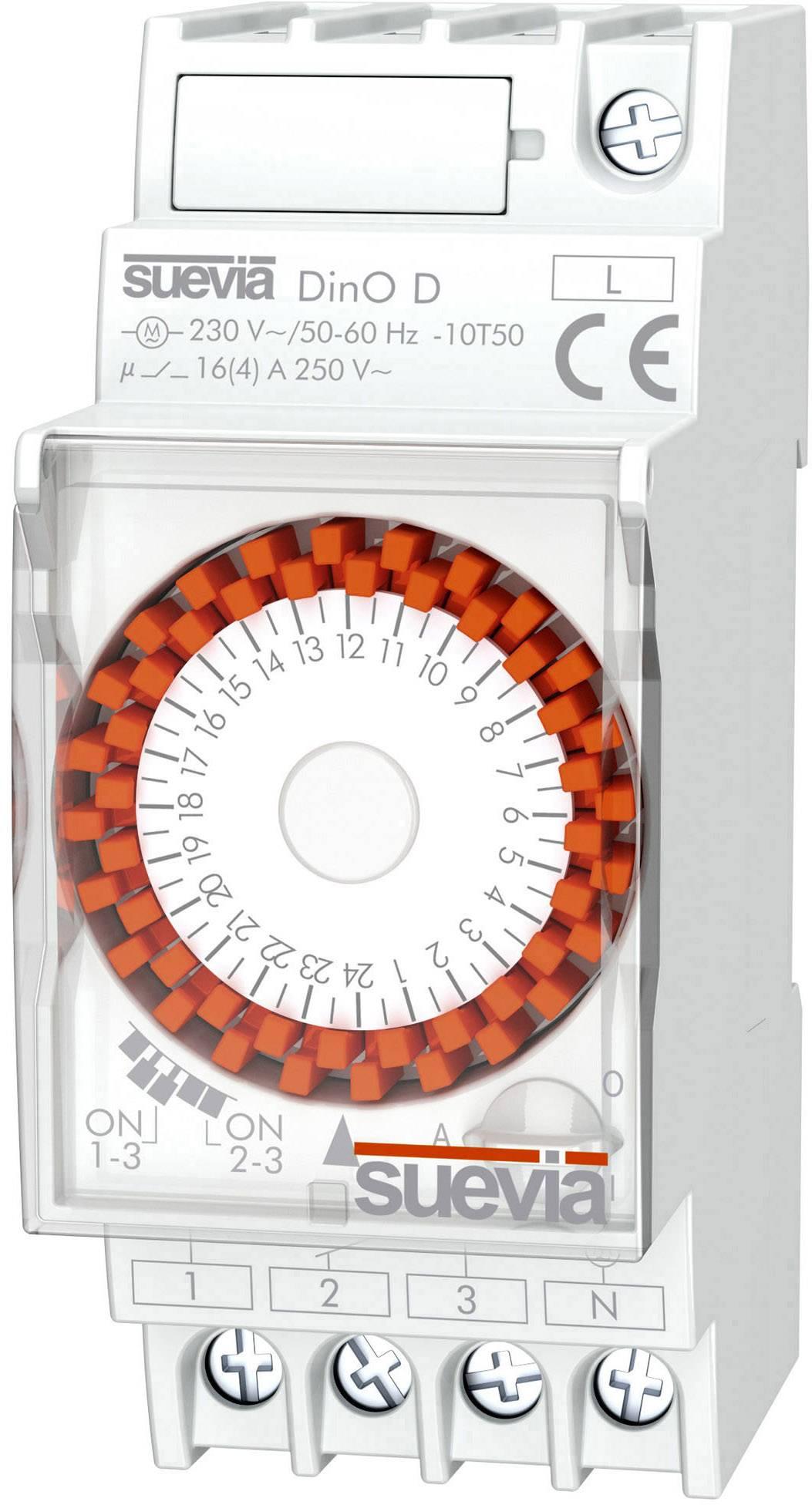 Spínací hodiny na DIN lištu Suevia DinO D, SU291031, 1 ks