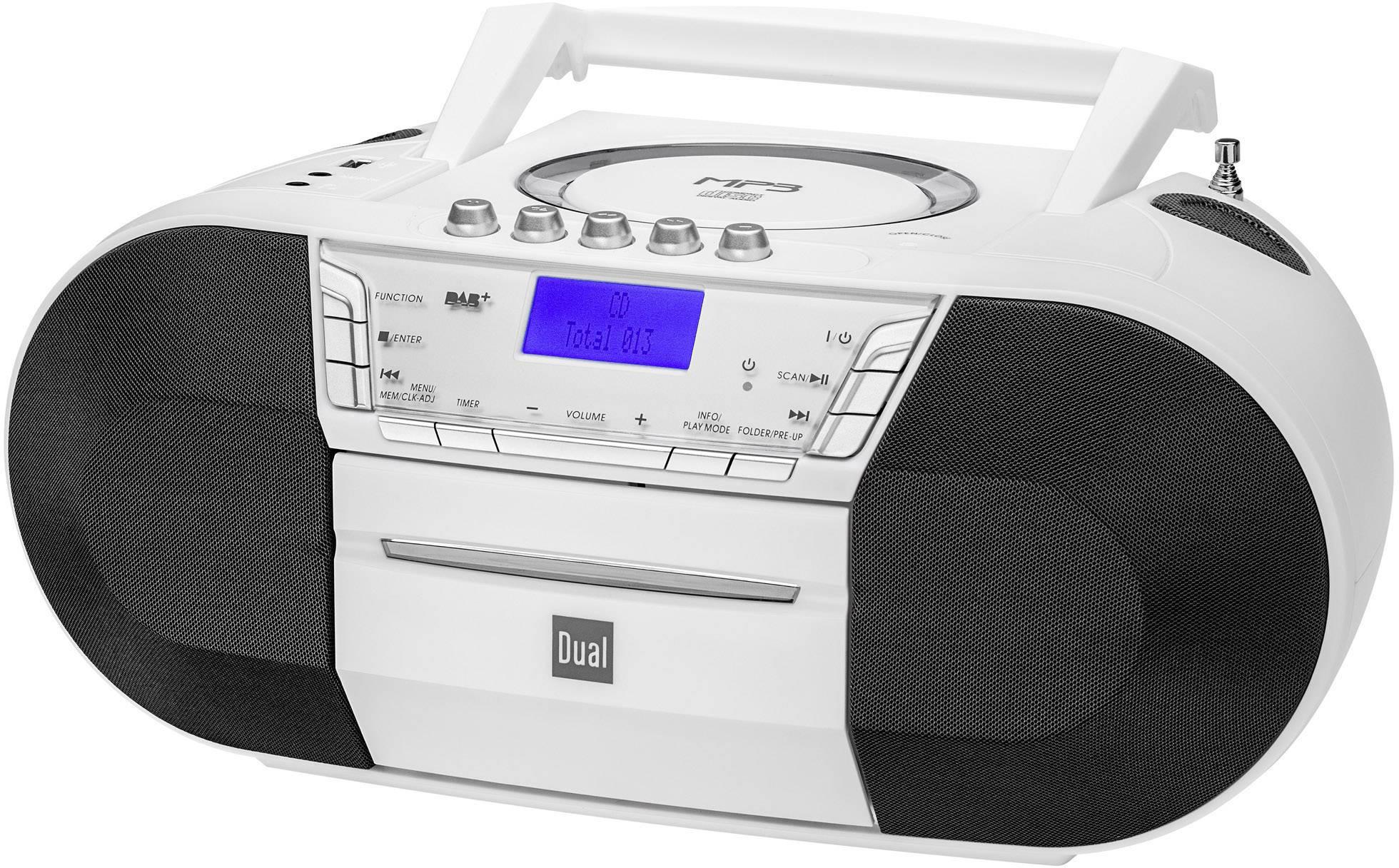 DAB+ a FM rádio s CD/MP3 prehrávačom Dual DAB-P 200, USB, biela