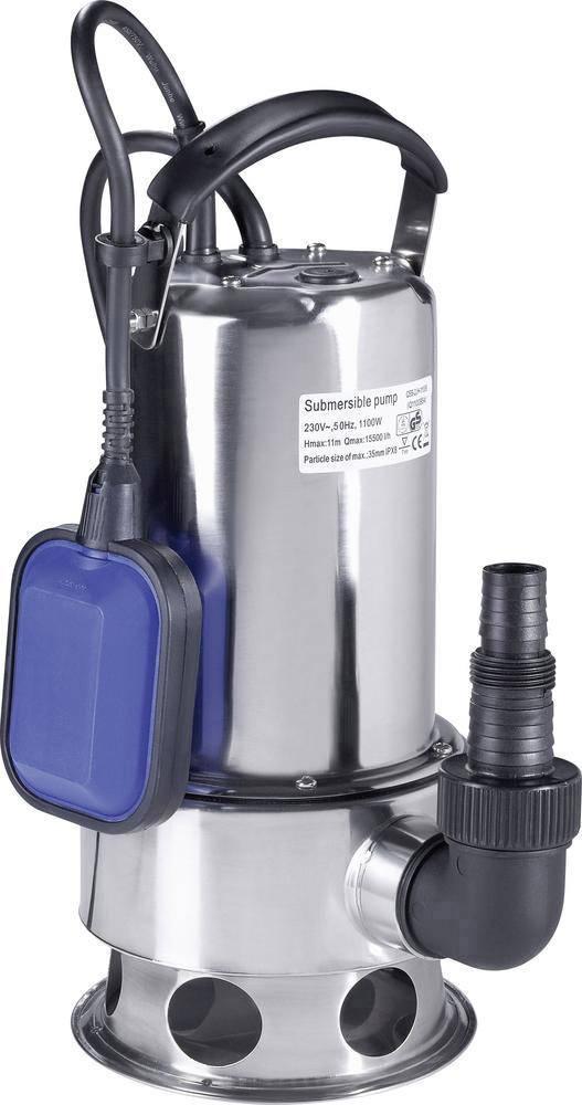 Ponorné čerpadlo pro užitkovou vodu Renkforce 1526586, 870 W, 15500 l/h, 10.5 m