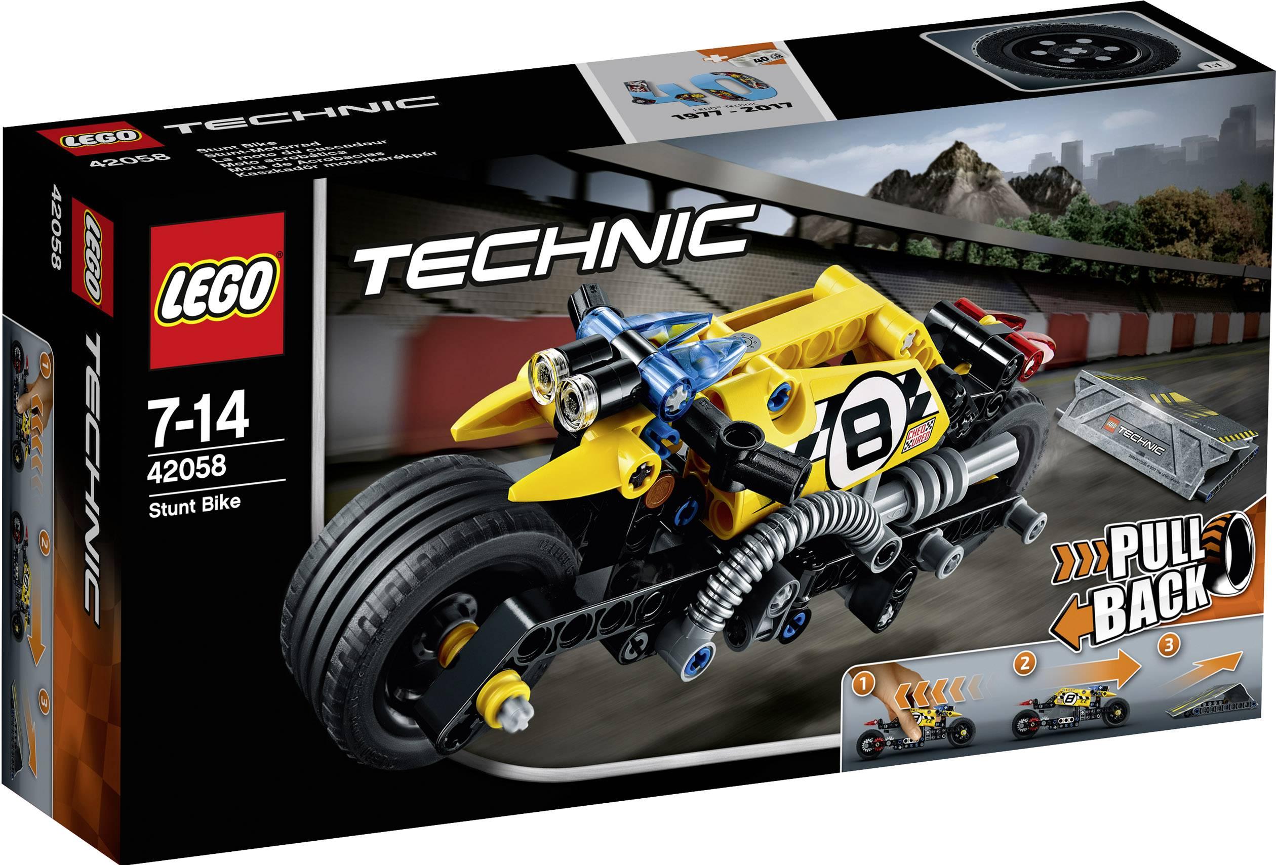 Motorka pre kaskadérov LEGO® TECHNIC 42058