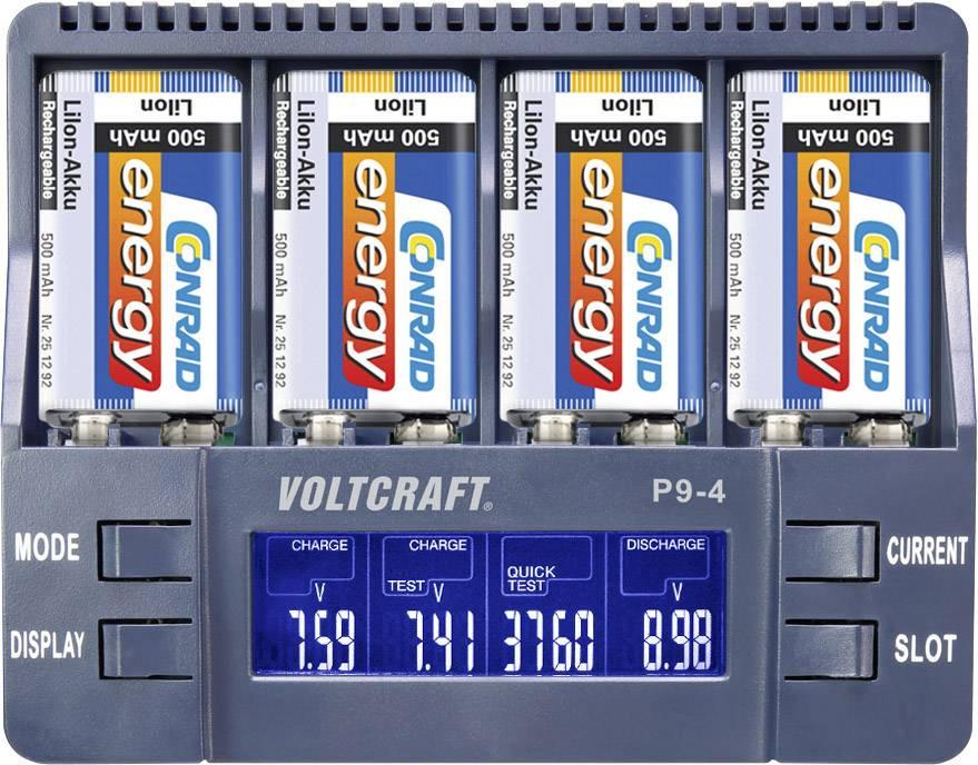 Nabíjačka 9 V akumulátorov VOLTCRAFT P9-4, 1527210, 9 V blok