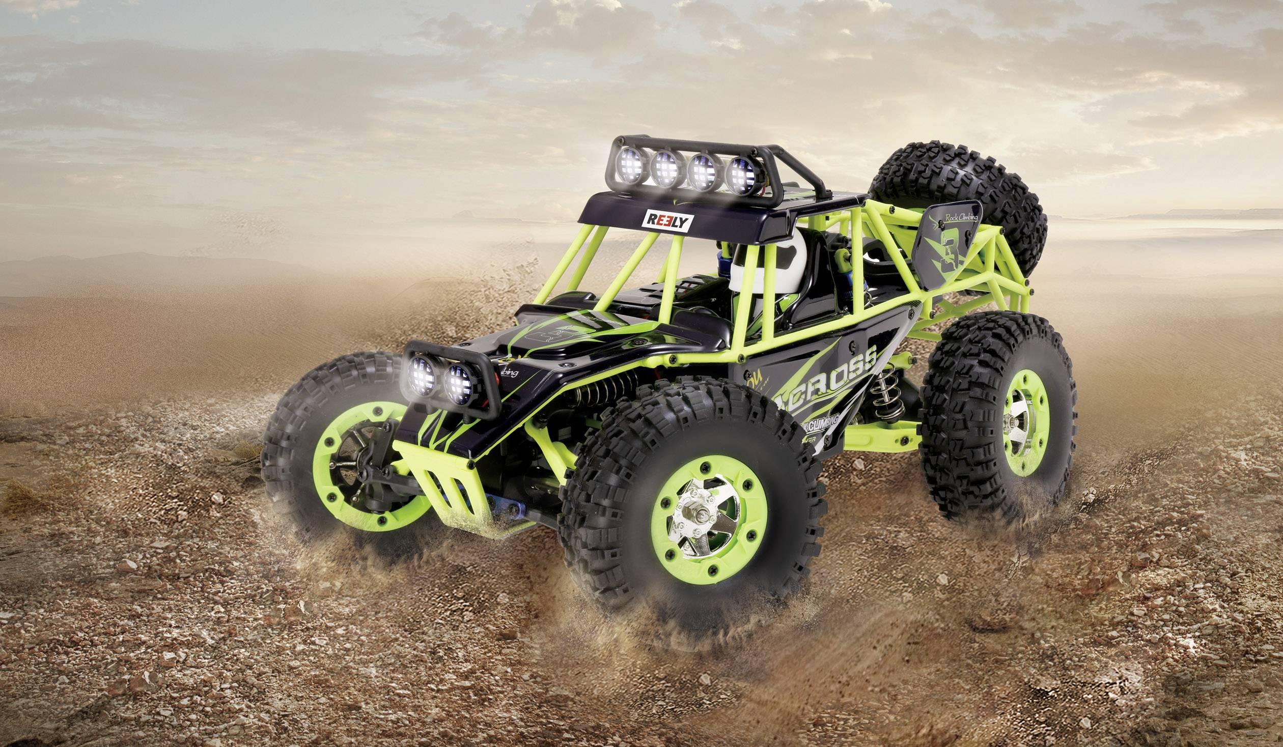 RC model auta buggy Reely Desert Climber, komutátorový, 1:10 XS, 4WD (4x4), RtR, 25 km/h