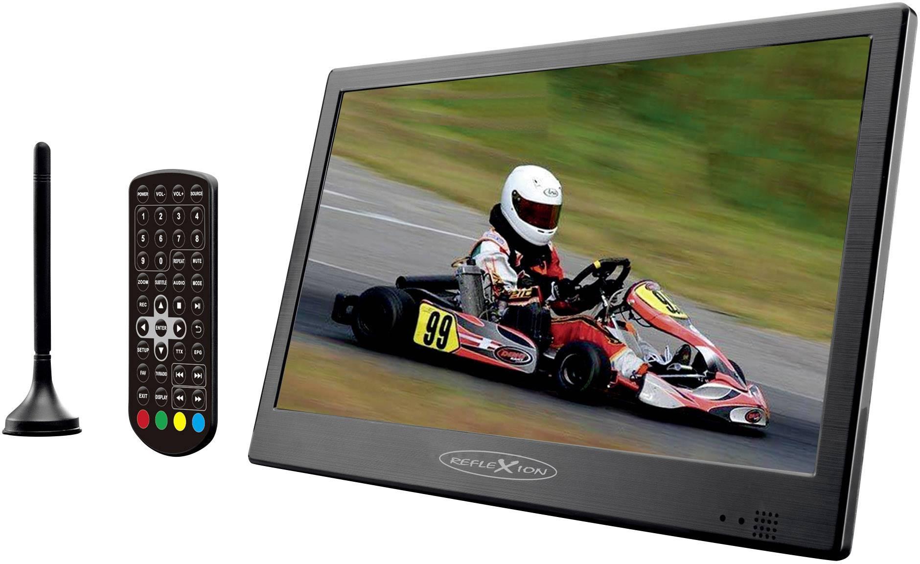 """Přenosná TV 25.4 cm 10 """" Reflexion LED1015T2HD/N camping TV"""