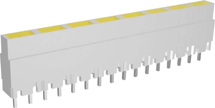 Lišta (pouzdro) pro 8 kusů LED - šedá/žlutá