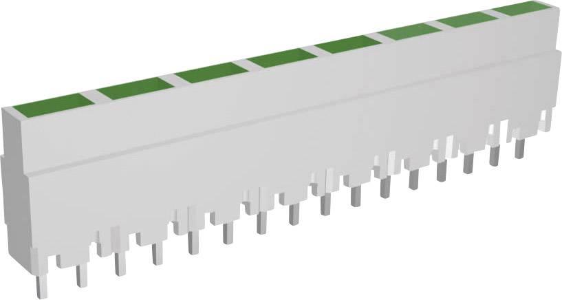 Lišta (pouzdro) pro 8 kusů LED - šedá/zelená