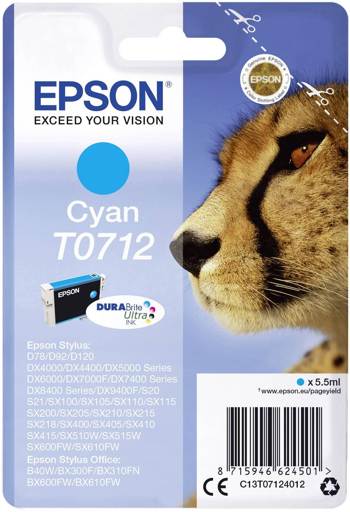 Epson Ink T0712 originál azurová C13T07124012