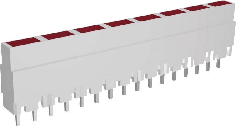 Lišta (pouzdro) pro 8 kusů LED - šedá/červená