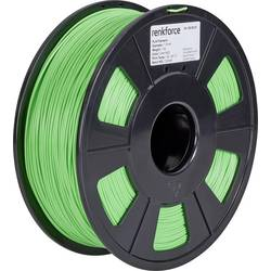 Vlákno pro 3D tiskárny Renkforce 01.04.01.1110, PLA plast, 1.75 mm, 1 kg, zelená
