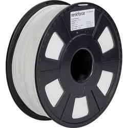 Vlákno pre 3D tlačiarne, Renkforce 01.04.01.1102, PLA plast , 1.75 mm, 1 kg, biela
