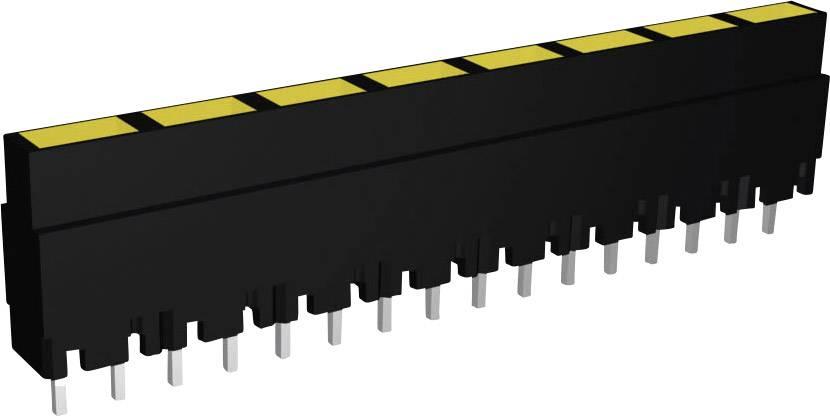 Lišta (pouzdro) pro 8 kusů LED - černá/žlutá