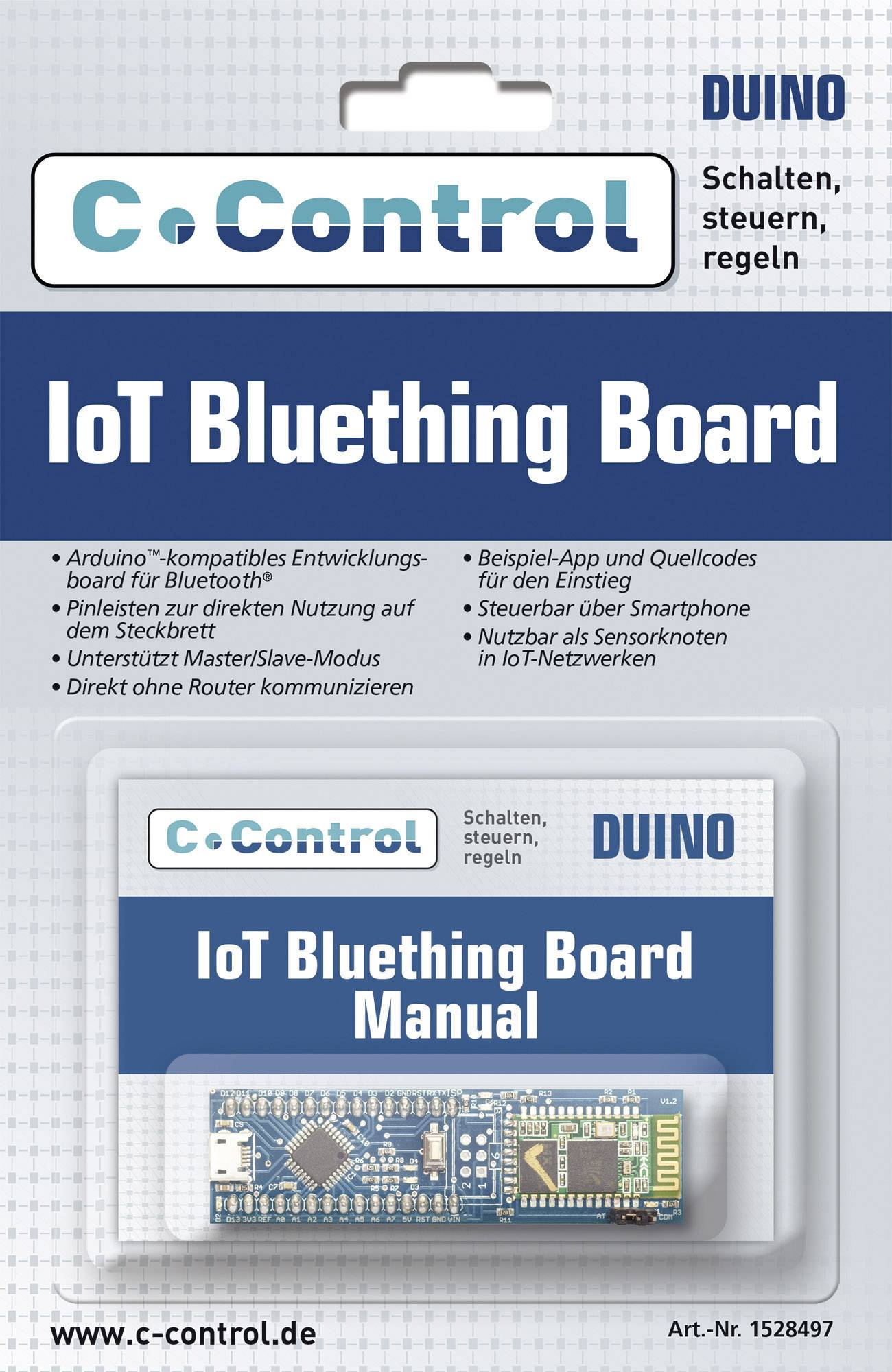 Vývojová deska C-Control IoT Bluetooth Board