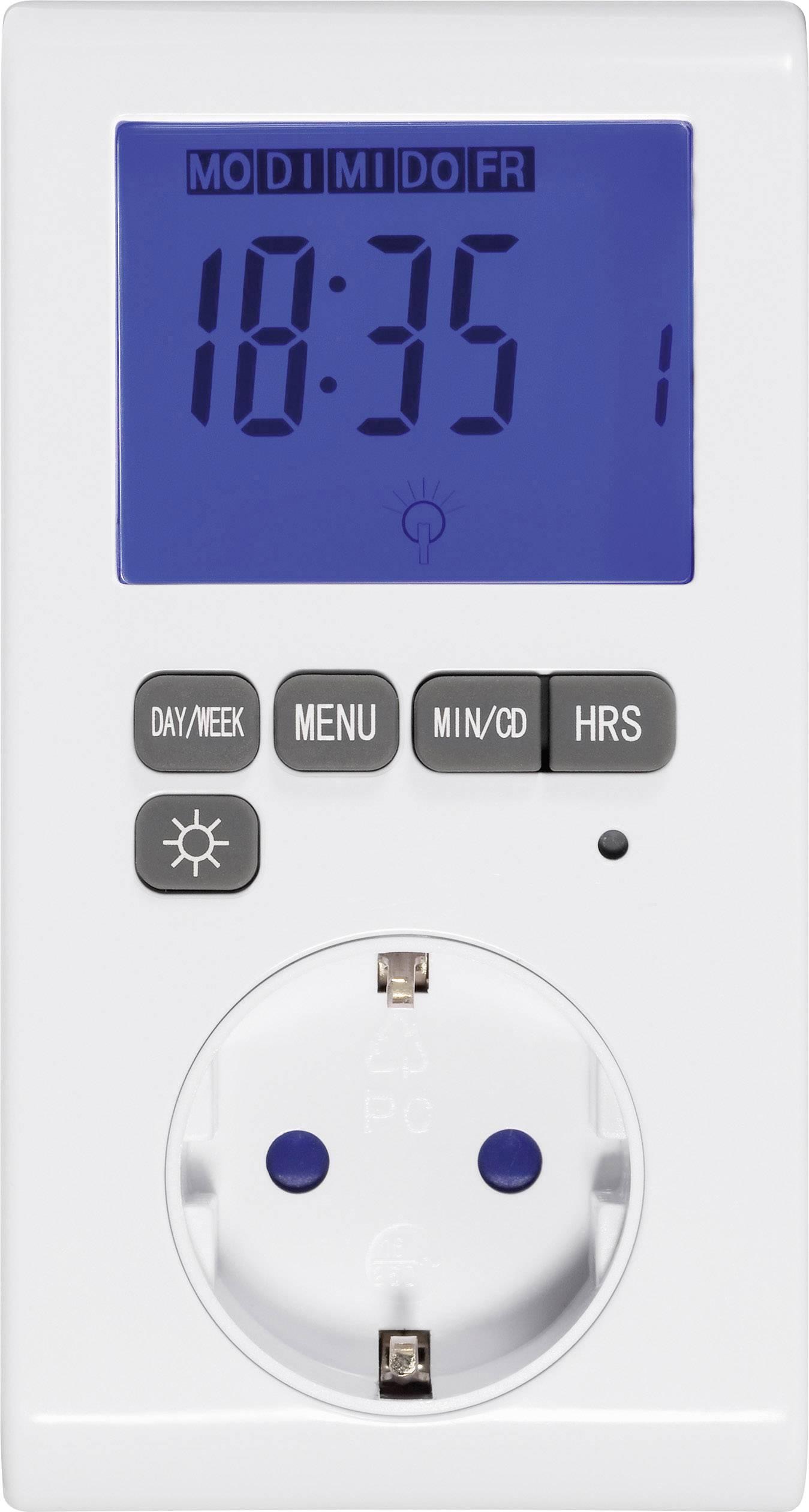 DCF časovač do zásuvky digitálny Sygonix 3680 W, IP20