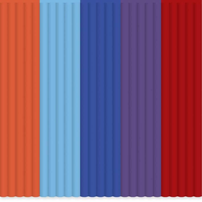 Sada vláken pro 3D tiskové pera 3Doodler AB-MIX7, ABS plast, 55 g, oranžová, modrá, nachová, červená