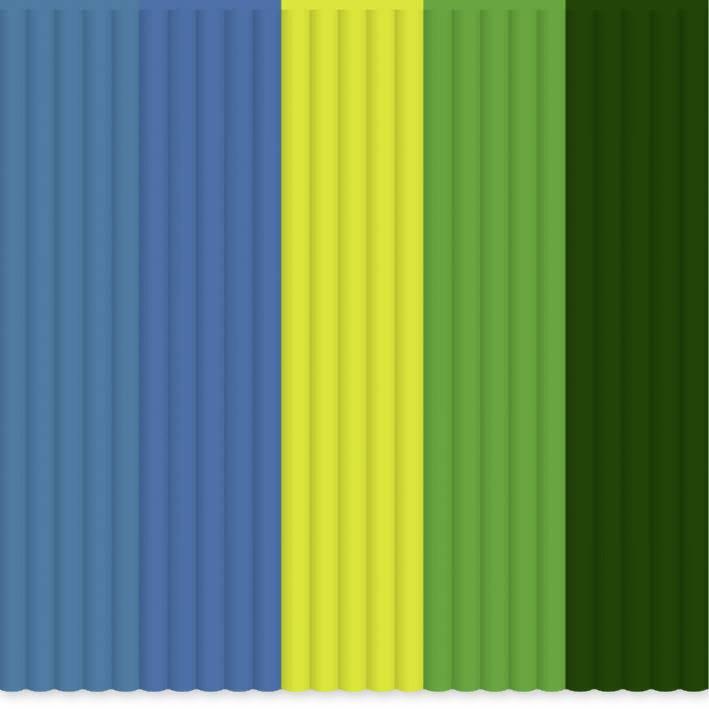 Sada vláken pro 3D tiskové pera 3Doodler PL-MIX8, PLA plast, 2.85 mm, 55 g, světle zelená, tmavě zelená , žlutá, modrá, petrolejová