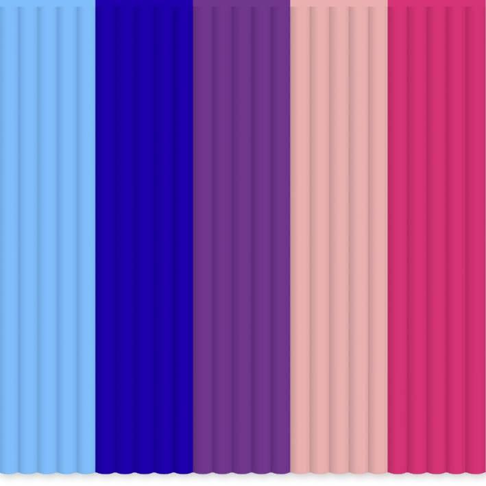 Sada vlákien pre 3D perá 3Doodler PL-MIX9, PLA plast , 55 g, svetlomodrá, kráľovská modrá, purpurová, ružová