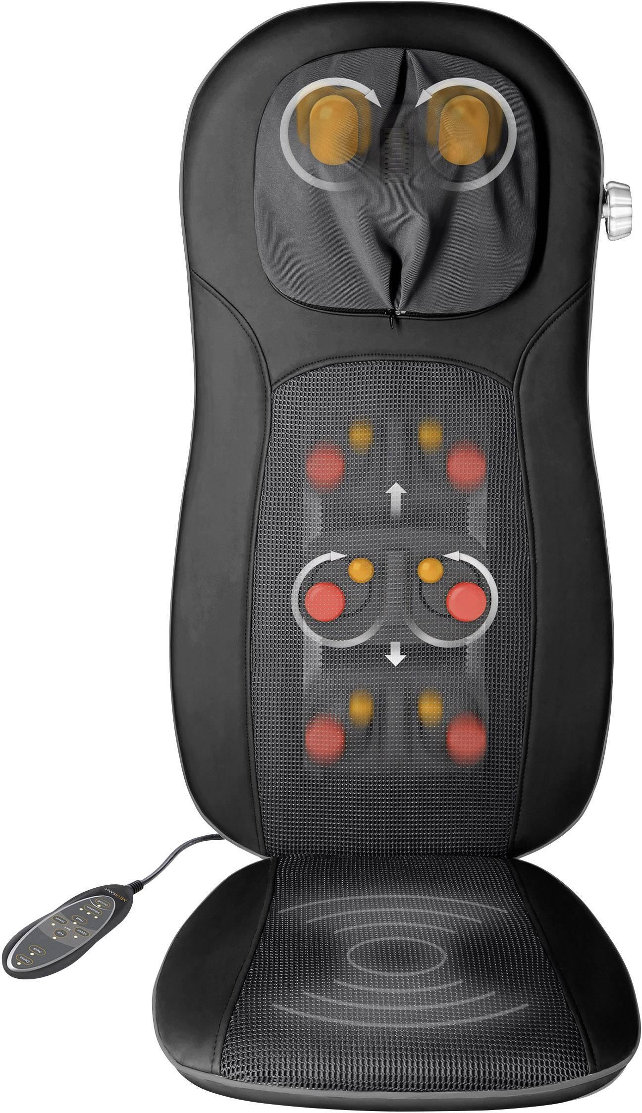 Masážny poťah sedačky Medisana MCN pro Shiatsu, 48 W, čierna