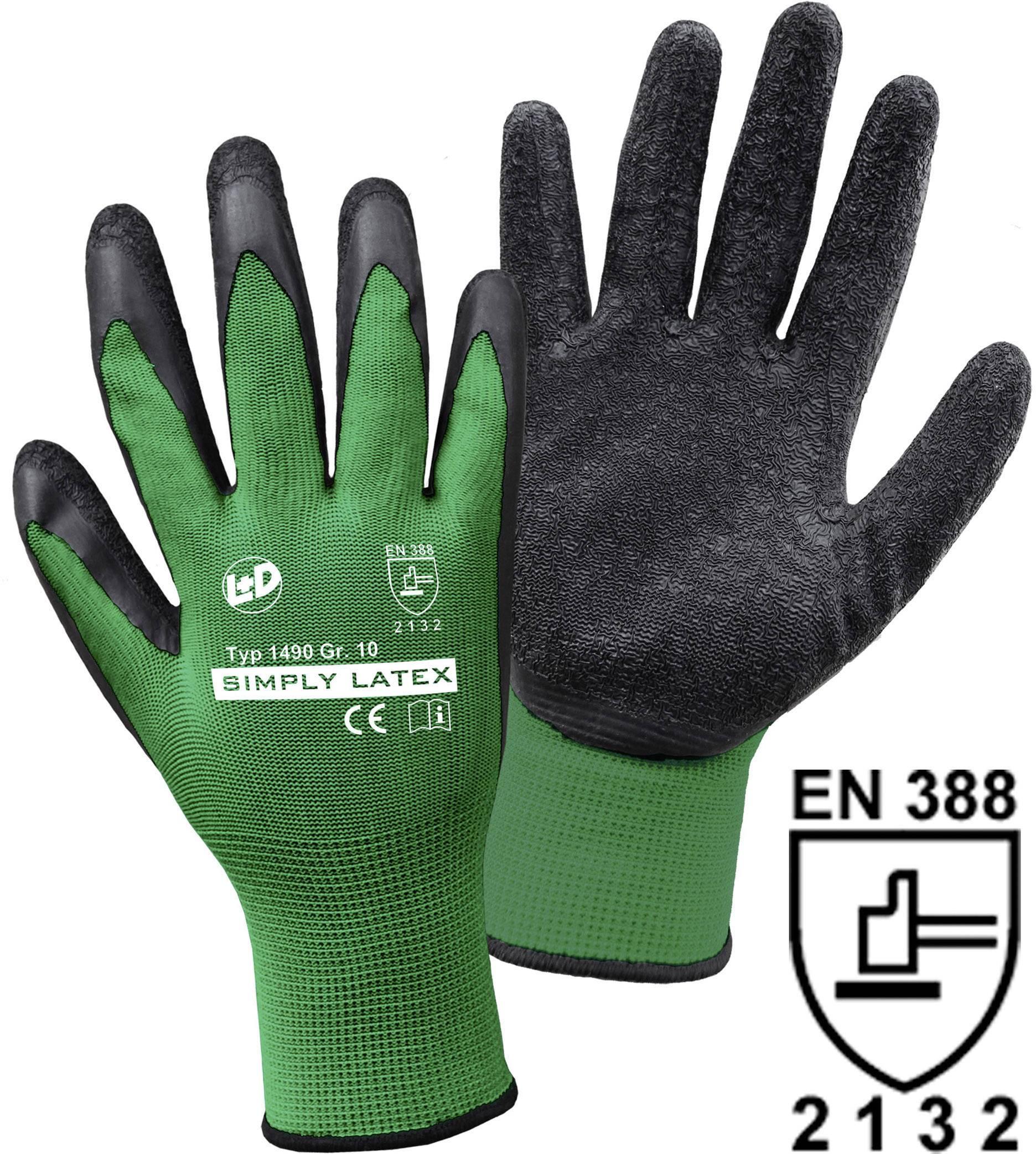 Pracovní rukavice jemně tkané Leipold + Döhle SIMPLY Latex 1490 11