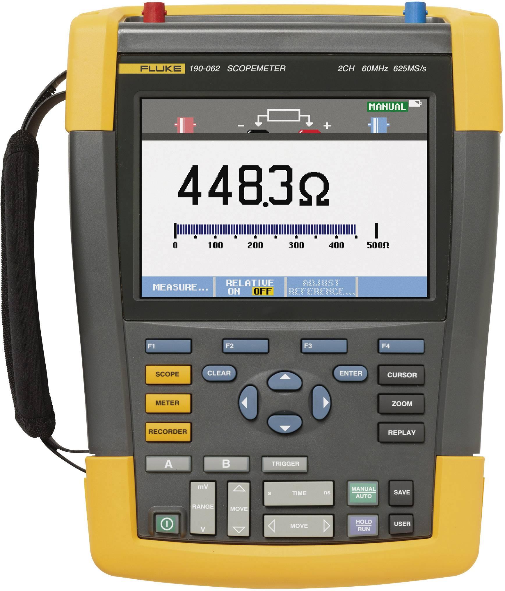 Ručný osciloskop Fluke ScopeMeter 190-062/EU/S, 60 MHz, 2-kanálová