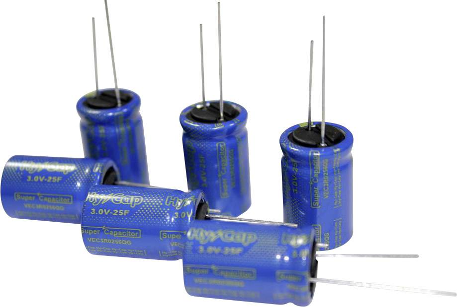 Dvouvrstvý kondenzátor VINATech VEC3R0505QG, 5 F, 3 V, (Ø x d) 10 mm x 20 mm, 1 ks
