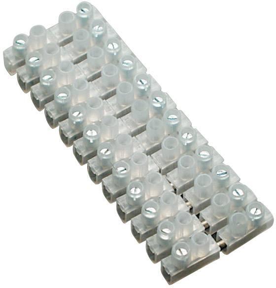 Svítidlové svorky BKL Electronic pro kabel o rozměru 1-4 mm², pólů 12, 1 ks, bílá