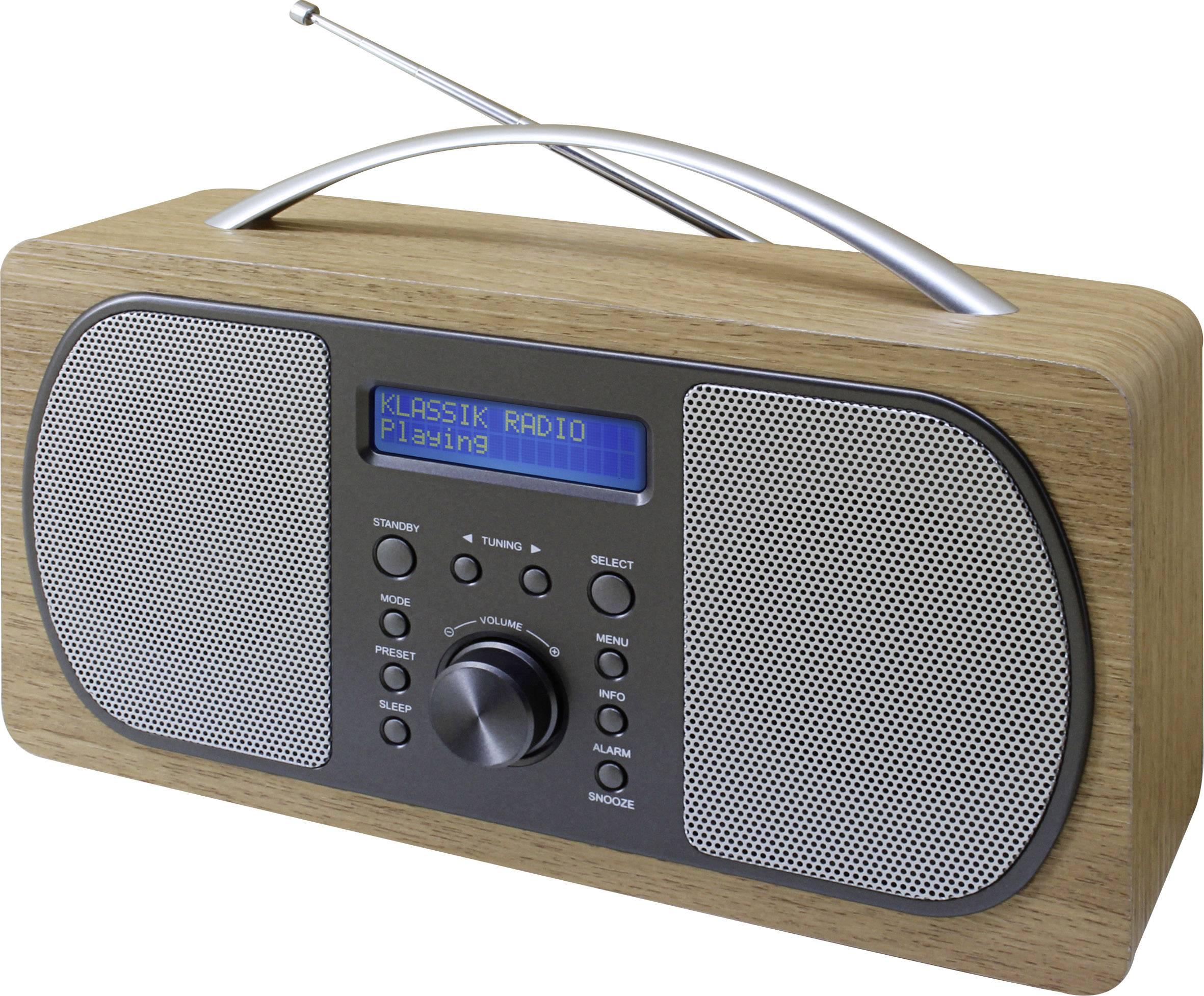 DAB+ prenosné rádio SoundMaster DAB600HBR, DAB+, UKW, svetlohnedá