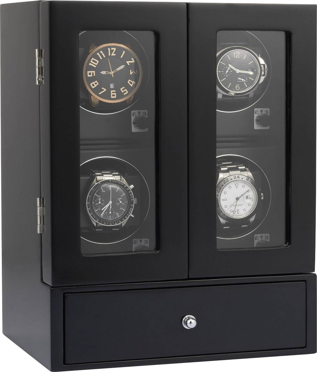 Stojan na hodinky s naťahovačom Eurochron ECUB072 9013c1a vhodný na štvoro hodiniek