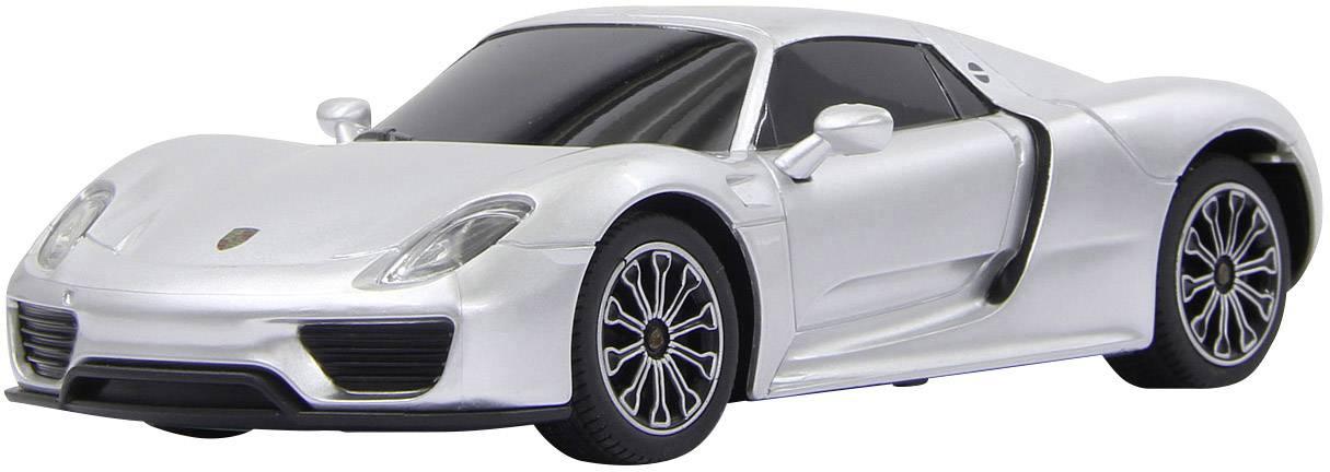 RC model auta Jamara 404589 - Porsche 918 Spyder, stříbrná, silniční vůz