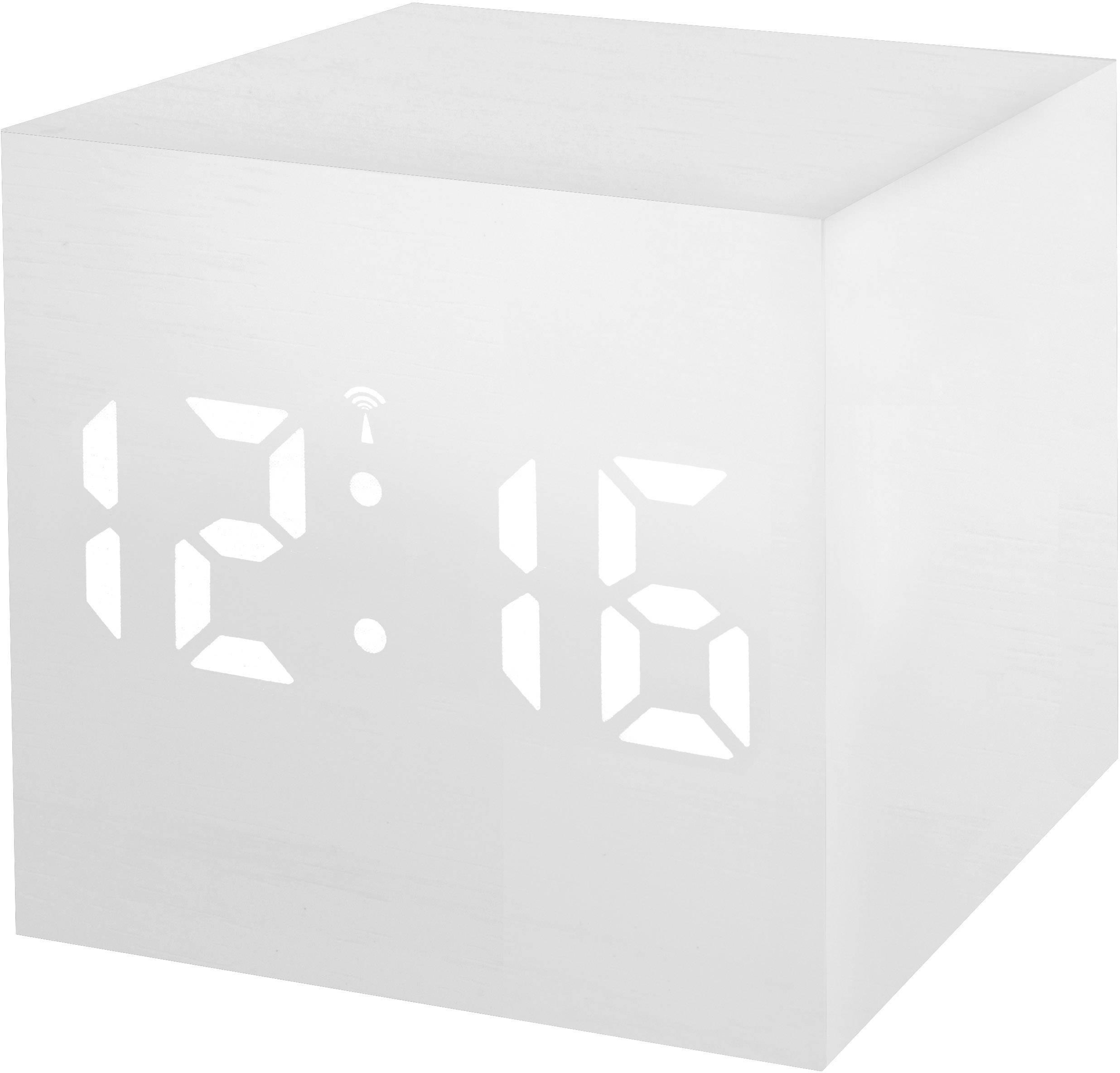 DCF budík s teplomerom Bresser Optik MyTime WAC 8020402GYEWHI, biela