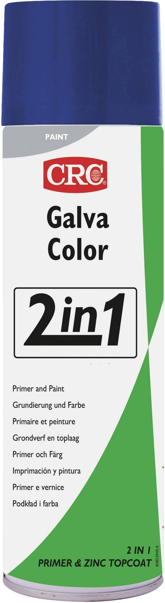 CRC 32079-AA Lak proti korozi GALVACOLOR s dvojitým účinkem, signální modrá (RAL 5005) 500 ml