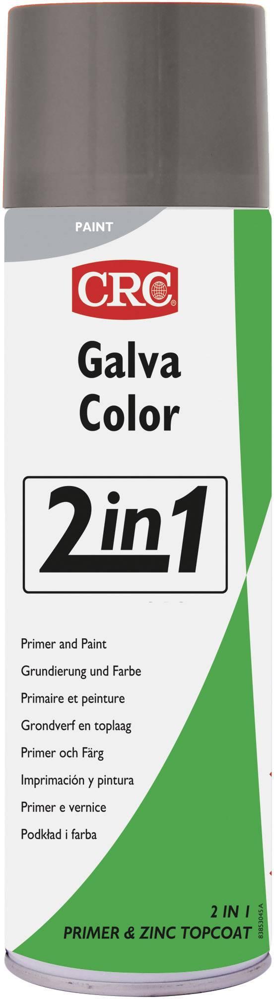 CRC 32080-AA Lak proti korozi GALVACOLOR s dvojitým účinkem, světle šedá (RAL 7035) 500 ml