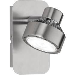Nástenný LED reflektor WOFI Local 4288.01.54.6000, 6 W, teplá biela, niklová (matná), chróm