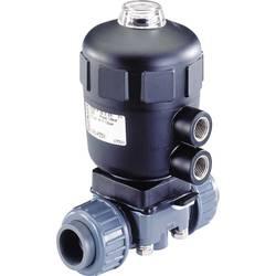 2/2-cestný pneumaticky řízený ventil Bürkert 141464, 25 mm Materiál pouzdra PP Těsnicí materiál PTFE, EPDM