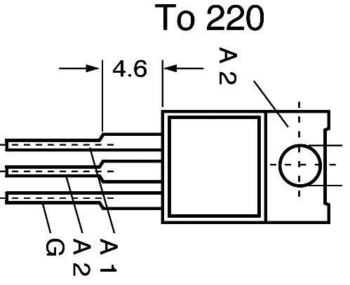 Triak TIC206D=T410-400T=BT136-600D