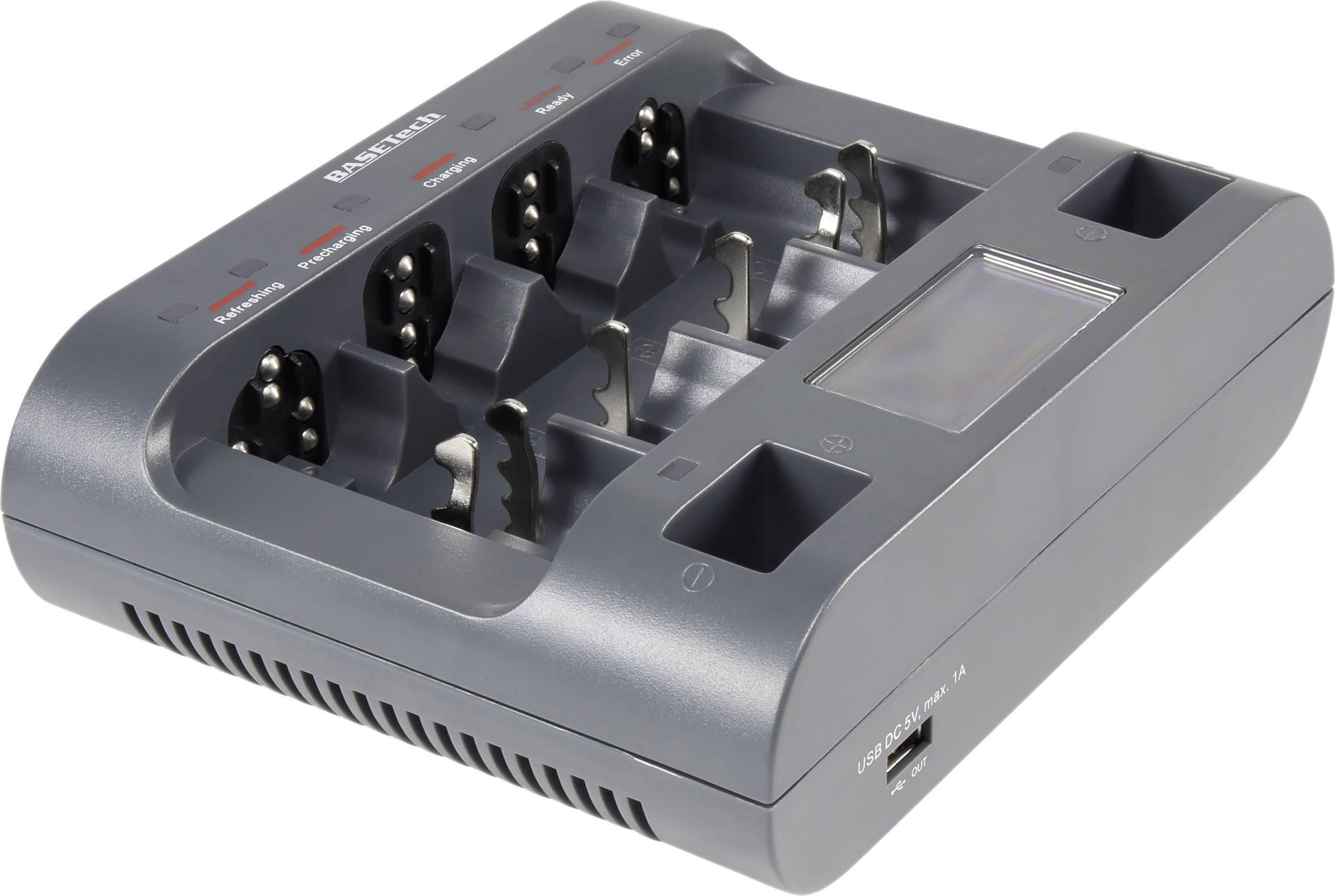 Nabíječka akumulátorů s USB Basetech BTL-11